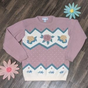 Cute Vintage Alfred dunner design sweater